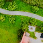 Slider vue aérienne allées et jardins