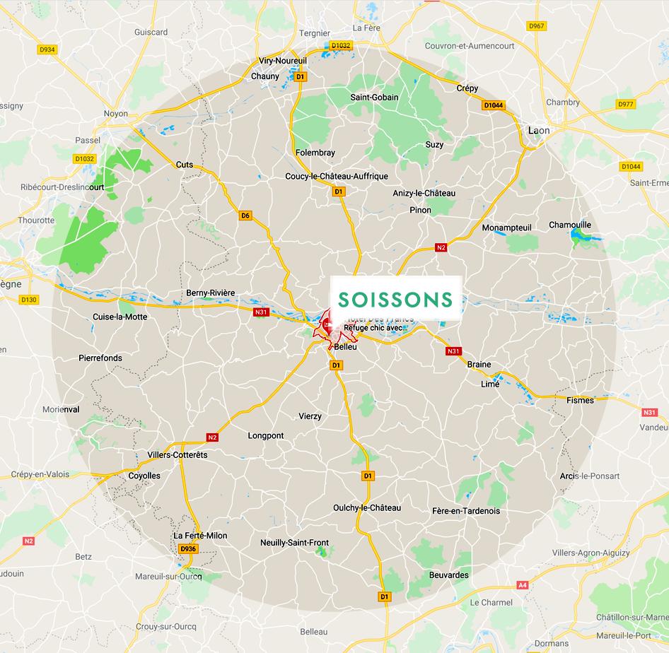 Zone d'intervention de Dimitri Anceaux Paysage Aisne Oise Somme Marne